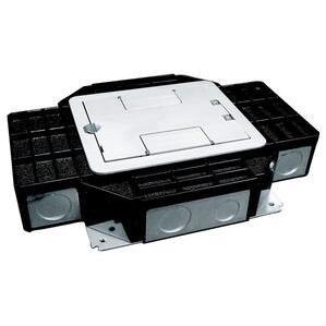 "Wiremold RFB4-SS Combination Box, 4-Compartment, Depth: 2-7/16"", Metallic"