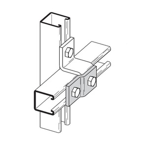 Eaton B-Line B526ZN TWO HOLE OFFSET Z-SUPPORT, ZINC PLATED