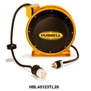 Hubbell-Wiring Kellems HBL45123TL20W Power Cord Reel, 20A, 125V, 45' Cable, White Housing