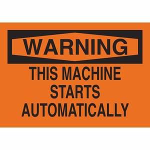 25039 MACHINE & OPERATIONAL SIGN
