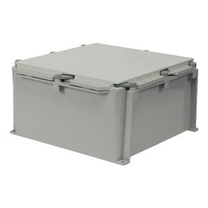 "Ipex 277009 Junction Box, Scepter Series, Screw Cover, NEMA 4X, 12 x 12 x 6"", PVC"