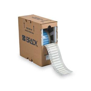"Brady PS-187-2-WT Single-Sided Wire Marker Sleeves, 2 x 0.187"""