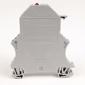 Allen-Bradley 1492-J6FB2250 Terminal Block, Fused, 10A, 60 - 150V AC/DC, Single Circuit, LED
