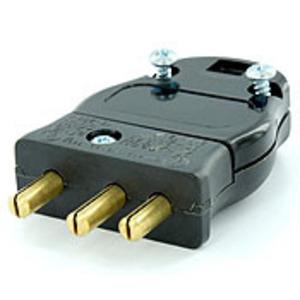 20MP-E BLK MALE PL SCR TERM 2P3W 20A125V