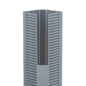 """Panduit CWD4LG6 Corner Wiring Duct, Base Only, 5.33"""" W x 4.58"""" H x 6' Long, PVC, Gray"""
