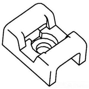3M CTB60X41NTS-C 2-Way Cable Tie Mounting Base