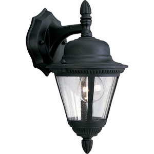 Progress Lighting P5862-31 Wall Lantern, Outdoor, 1-Light, 60W, Textured Black