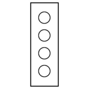 Eaton B-Line PV4 TYPE 12 VERTICAL PUSHBUTTON ENCLOSURE