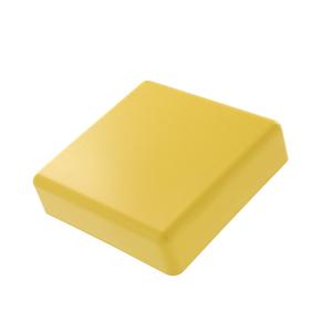 S4END-CSL YL END CAP W/O SLOTS 4X4