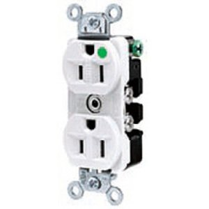 Hubbell-Kellems 8300W RECEPT, DUPLEX, HG, 20A 125V, WHITE *** Discontinued ***