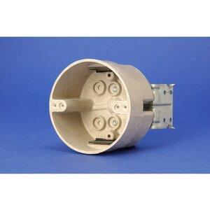 "Allied Moulded 9350-HL 4"" Round Outlet Box, Depth: 2-7/16"", ""HL"" Hanger, Non-Metallic"