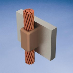 nVent Erico VVR2L MOLD,CABLE TO VERT STL,VERT THRU OFF SURFACE