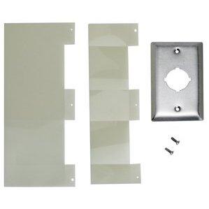 Square D 9001K25 Push Button, 1 Hole, Flush Plate, Stainless Steel, 30mm, NEMA 1