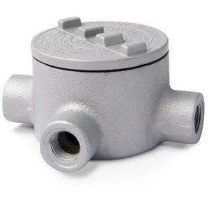"""Appleton GRT200-A Conduit Outlet Box, Type GRT, (3) 2"""" Hubs, Aluminum"""