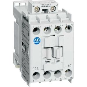 Allen-Bradley 100-C23EJ10 Contactor, IEC, 23A, 3P, 24VDC Electronic Coil w/Integrated Diode