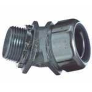 """Thomas & Betts 5342 Liquidtight Connector, 45°, 1/2"""", Insulated, Malleable Iron"""