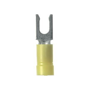 Panduit PV10-8LF-L Fork Terminal, Locking Type, Funnel Entry, Vinyl Insulated