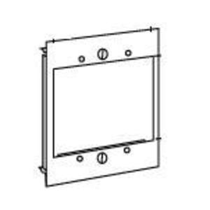Wiremold V6007C-2 Device Plate, 2-Gang, 6000 Series Raceway, Steel, Ivory, Vertical Mount