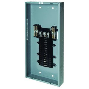 Square D QO330L200G Load Center, Main Lug Only, 200A, 240VAC, 3PH, 30/30, NEMA 1, 65kA