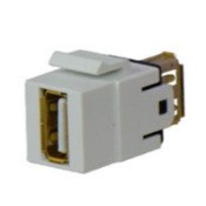ON-Q WP1220-IV USB 2.0 A/A Keystone Coupler Insert, Ivory