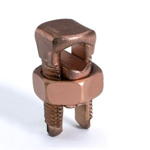 Burndy KS20 Split Bolt, Copper, Run: 8 to 4 AWG, Tap: 8 to 4 AWG