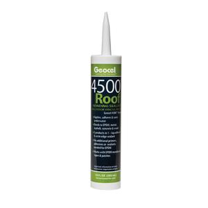 Geocel 4500-WHITE Roof Bonding Sealant, White, 10 Ounce Cartridge