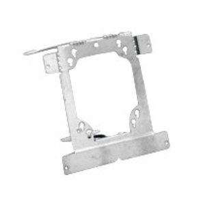 Erico Caddy TEB23 Mounting Bracket, 4 Inch Square, Low Voltage, Nail-On, Metallic