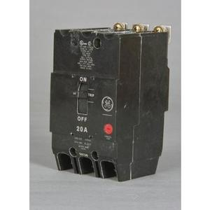 GE Industrial TEY325 Breaker, Bolt On, 25A, 480/277VAC, 3P, Molded Case, 14kAIC