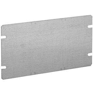 Hubbell-Raco 845 Gang Box Cover, 3-Gang, Flat, Blank, Drawn, Steel