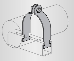 Power-Strut PS1100-3-1/2-AL COND CLAMP