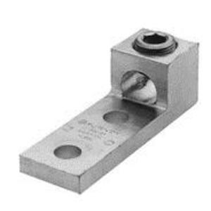 Burndy K3A26U2N Mechanical Lug, 3-Conductor, 2-Hole Mount, Aluminum, 14 - 2/0 AWG