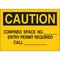 40622 CONFINED SPACE SIGN