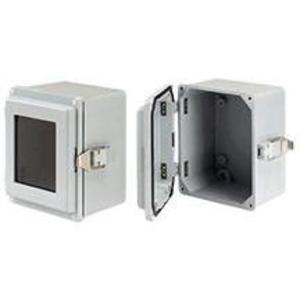 "nVent Hoffman A865JFGQRR Junction Box, Type 4X, Solid Cover, 7.50"" x 6"" x 5.28"", Fiberglass"