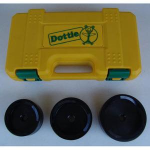 "Dottie HPTK3 Hydraulic Punch Kit, 3 Piece Die Set, 3-1/2"", 4"", and 4-1/2"""