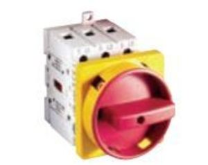 Allen-Bradley 194E-E25-1753-6N Disconnect Switch, 3P, 2-Position, 25A, 690VAC, Red/Yellow Knob