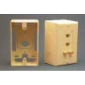 International Connectors & Cable IC107MRSIV Mounting Box, 1 Piece, Raceway, Cable Entrance, Faceplate, Ivory