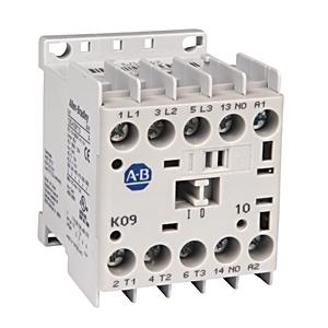 Allen-Bradley 100-K09ZJ400 Contactor, Miniature, 9A, 4P, 24VDC Coil, 4NO/0NC