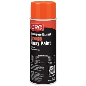 CRC 18004 Orange Enamel Spray Paint, All Purpose - 10oz Aerosol Can
