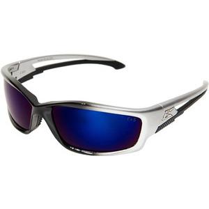Wolf Peak SK118 Eyewear, Silver & Black Frame/Blue Mirror Lens, Non-Polarized