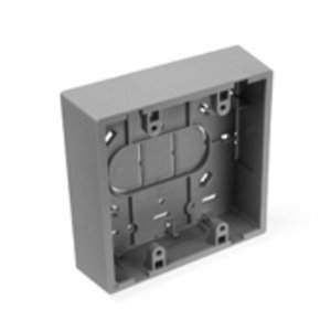 Leviton 42777-2GB Surface-Mount Back Box, Dual-Gang, Gray, Fire Retardant  Phenolic