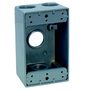 "TP7010 1G WP-3 1/2"" HOLES GRAY"