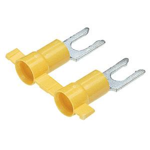 Panduit PV10-10LFB-2K Locking Fork Terminal, vinyl insulated,