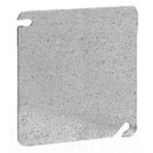 "Cooper Crouse-Hinds TP472 4"" Square Cover, Flat, Blank"