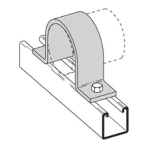 "Eaton B-Line B2400-11/2ZN Pipe Strap, 1-1/2"", Steel, Zinc Plated"