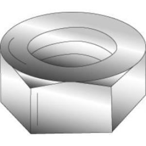 "Cully 40135J 3/8""-16 Hex Nut, Zinc Plated"