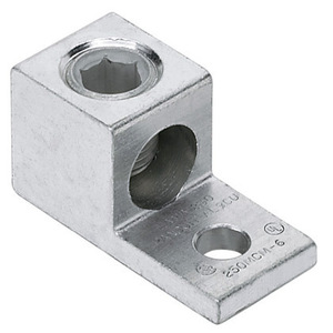 "Panduit LAMA6-14-QY Mechanical Lug, 1-Hole, Aluminum, (1) 14 - 6 AWG CU/AL, 1/4"" Stud Size"