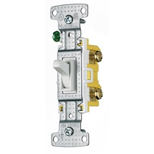 Hubbell-Wiring Kellems RS115W Single-Pole Switch, 15A, 120V AC, White Residential