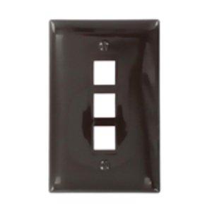 Leviton 41091-3BN Midsize Wallplate, Brown
