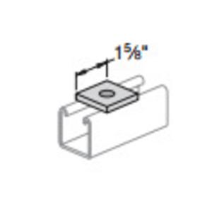 "Power-Strut PS619-5/8-EG Square Washer, 5/8"" Bolt Hole, Steel/Electro-Galvanized"