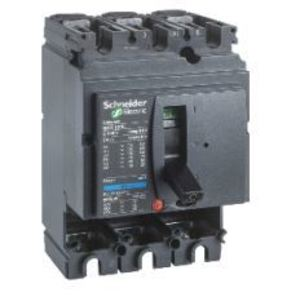 Square D LV429005 Breaker, Molded Case, Frame Only, No Trip, 100A, 3P, 415VAC, 150kAIC